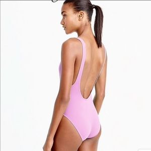 J. Crew Plunging Scoopback one piece swim 16